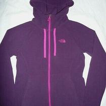 The North Face Purple Fleece Hoodie Sweatshirt Full Zip Jacket Size S Womens Photo