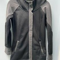 The North Face Quilted Long Hooded Jacket Sweater Black/grey Size Small Photo