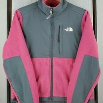 The North Face Size Small Womens Pink Denali Polartec Fleece Zip Jacket 179 Photo
