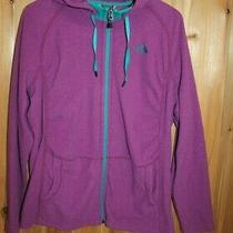 The North Face Size Xl Hoodie Stretch Full Zip Jacket Purple Green Lightweight  Photo