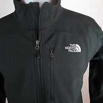 The North Face Softshell Jacket Mens Size L Large Black Coat Photo