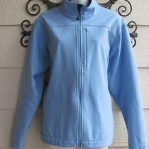 The North Face Softshell Light Blue Zip Jacket Windbreaker Size Xl Photo