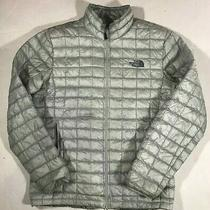 The North Face Thermoball Jacket Silver Men's Size M Gray  Photo
