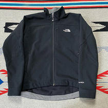 The North Face Tnf Apex Full Zip Softshell Jacket Womens Size Large Solid Black Photo