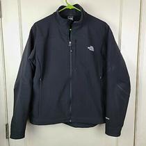 The North Face Tnf Apex Women's Black Full Zip Softshell Jacket Coat Size L Photo
