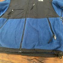 The North Face Tnf Denali Full Zip Fleece Jacket Blue Black Men's Medium Soft Photo