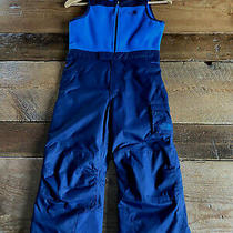 The North Face Toddler Insulated Bib Pants Wijnter Snow Ski Suit Blue Size 5 Photo