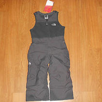 The North Face Toddler Insulated Snowdrift Bib 3t Graphite Grey New Photo