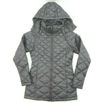 The North Face Transit Down Jacket Puffer Quilted Gray Hooded 550 Fill Size Xs Photo