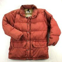 The North Face Vintage Brown Label Down Puffer Mens Xl Orangish Red Jacket Photo