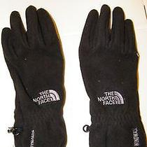 The North Facewindwallblack Fleece Grip Fingerspalm Gloves/sz M/great Photo