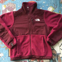The North Face Women's Denali Polartec Sz Xs Fleece Jacket Burgundy Red Full Zip Photo