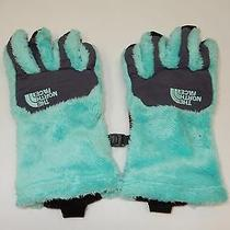 The North Face Women's Denali Thermal Etip Gloves Mint Blue Greystne Blue Small Photo