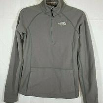The North Face Women's Fleece Gray Shirt Jacket 1/3 Zip Up Pulloversize Xs Photo