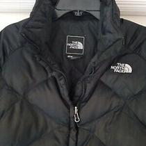 The North Face Women's Full Zip 550 Goose Down Black Puffer Coat Jacket Size S/p Photo