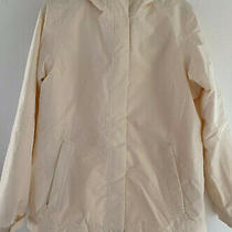 The North Face Womens Jacket Hooded Coat Off-White Size L Photo