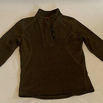 The North Face Women's Medium Brown Fleece Jacket With 1/4 Length Toggle Buttons Photo