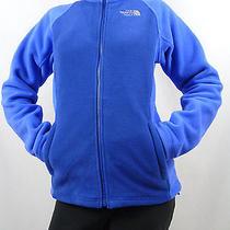 The North Face Women's Mindy Fleece Jacket Full Zip Bolt Blue Nwot 99 Size L Photo