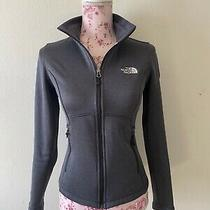 The North Face Women's Off Black / Dark Gray Full Zip Jacket Sz Xs Photo