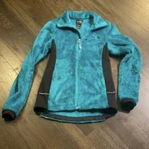 The North Face Women's Oso Teal Green Fuzzy Fleece Full Zip Hoodie Jacket Sz Xs Photo
