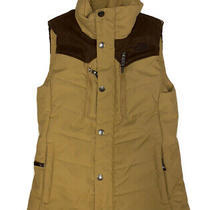 The North Face Womens Tan and Brown Full Zip Fleece Lined Cryptic Vest Size Xs Photo