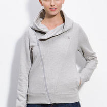 The North Face Womens Bon Bonnie Full Zip Hoodie Jacket M Heather Grey Photo