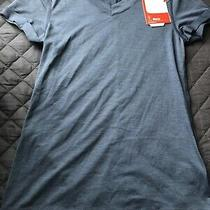 The North Face Womens Flashdry Active Fit v-Neck T Shirt Blue Nwt Size X Small Photo