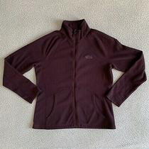 The North Face Womens Fleece Pocket Jacket Full Zip Up Plum Purple Size Large Photo