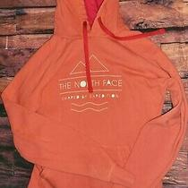 The North Face Womens Hoodie Pullover Size Small Sm Orange  Photo