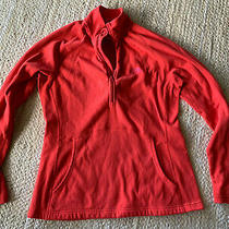 The North Face Womens L/s Red Fleece 3/4 Zip Jacket Top Size M Medium Photo