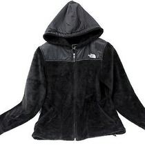 The North Face Womens Oso Silken Fleece Nylon Black Zip Hoodie Jacket Small S Photo