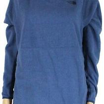 The North Face Womens Sweater Blue Size Medium M Fleece Hooded Pullover 65- 330 Photo