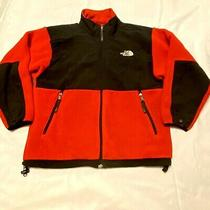 The North Face Youth Large Red & Black Denali Polartec Full Zip Fleece Jacket Photo