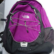 The Northface Bookbag Purple and Gray Photo