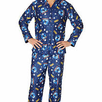 The Polar Express Adult Believe Button-Front Coat Shirt and Pants Pajama Set-Md Photo