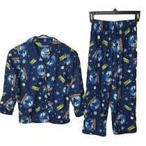 The Polar Express Believe Boys Size 8 Button Up Shirt and Pull on Pants Pajamas Photo