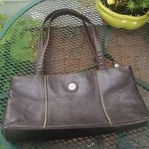 The Sac Dark Brown Genuine Leather Shoulder Bag Purse Medium Size Photo