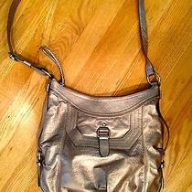 The Sac Gold Leather Purse (Worn as Cross Body or Shoulder Bag) Photo