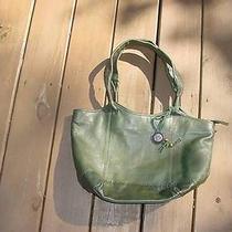 The Sac Green Pebbled Leather Purse Handbag Photo
