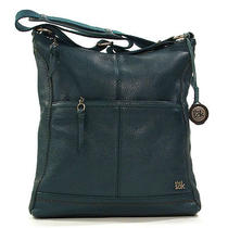 The Sac Iris Cross Body Leather Purse in Vintage Blue Photo