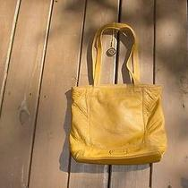 The Sac Mustard Yellow Pebbled Leather Purse Handbag Photo