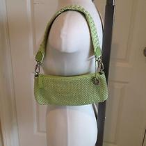The Sac Spring Green Woven Purse or Clutch Small Photo