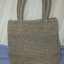 The Sac Taupe Crochet Small Bag Purse Tan  Photo