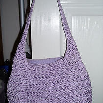 The Sac Womens Crocheted Lavender Purse Excellent Condition  Photo