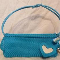 The Sak Aqua Blue Baguette Cute Satchel Mirror Fob & Hang Tag Photo