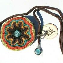 The Sak Bag Purse Crossbody Red Brown Green Silver Crochet Spring Summr Offer Nw Photo