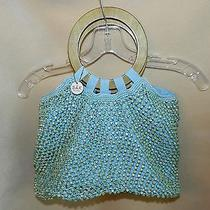 The Sak Beaded Bag Blue Wood Handles Photo