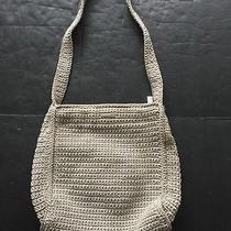 The Sak Beige Crochet Shoulder Bag Women's Purse Photo