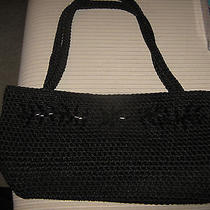 The Sak Black Bag With Black Sparkle Beads on the Front Photo