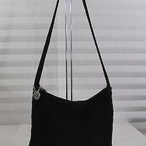 The Sak Black Classic Crochet Knot Shoulder Bag Purse W/hangtag Photo